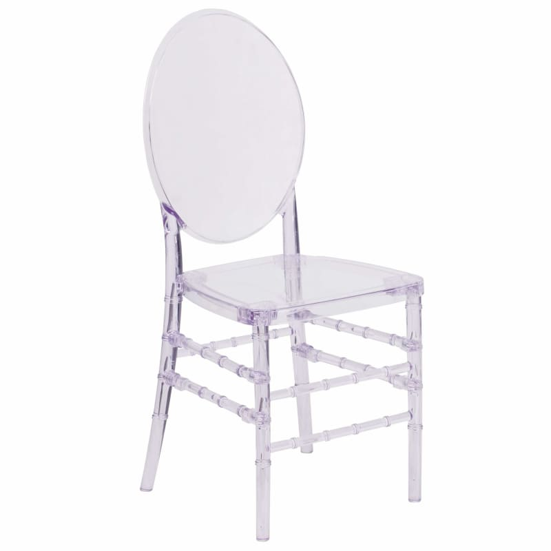 Flash Furniture, Flash 2 Pack Elegance Crystal Ice Stacking Florence Chair Y-3-GG,