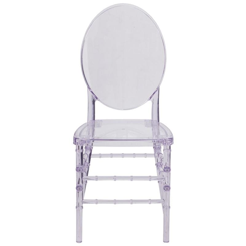 Flash Furniture Y-3-GG Crystal Ice Stacking Florence Chair Clear - Furniture > Chairs > Kitchen & Dining Room Chairs