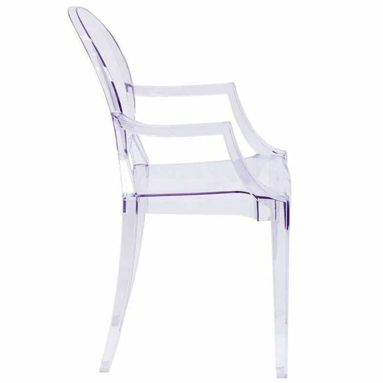 Flash Furniture, Ghost Chair with Arms in Transparent Crystal Clear FH-124-APC-CLR, [product_id]