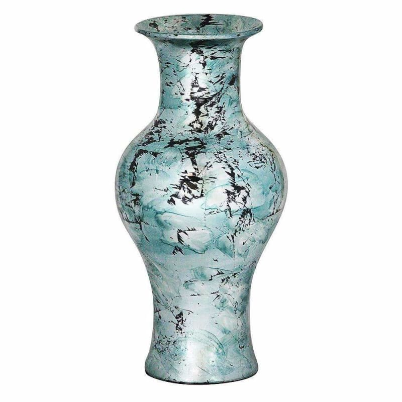 "Kate 18"" Foiled & Lacquered Ceramic Vase W1298-B8"