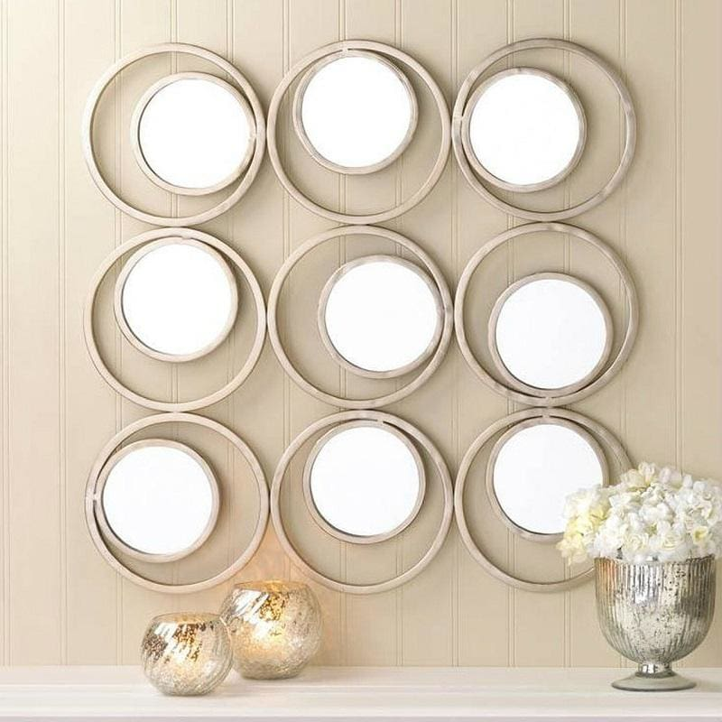 Modern Circles Wall Mirror Decor 10017275