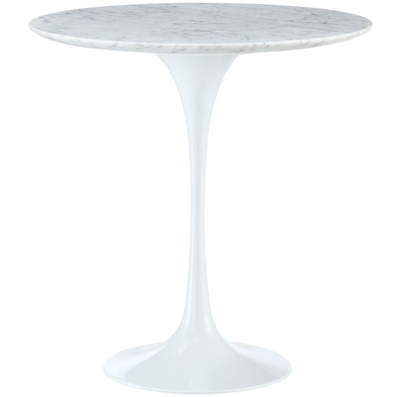"Lippa 20"" Marble Side Table White EEI-280-WHI"