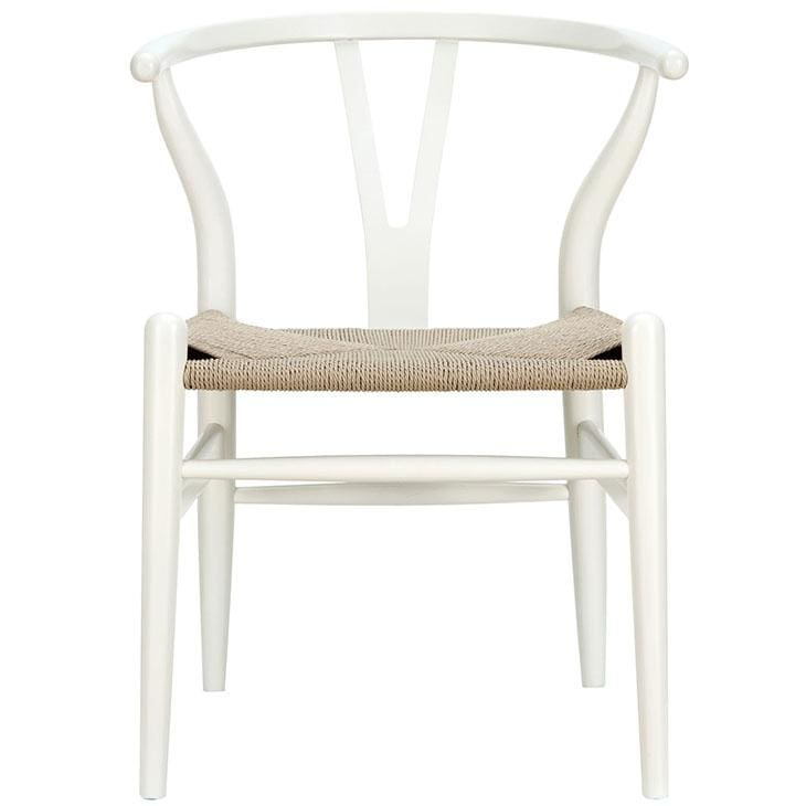 Modway Furniture EEI-552 Amish Dining Wood Armchair White