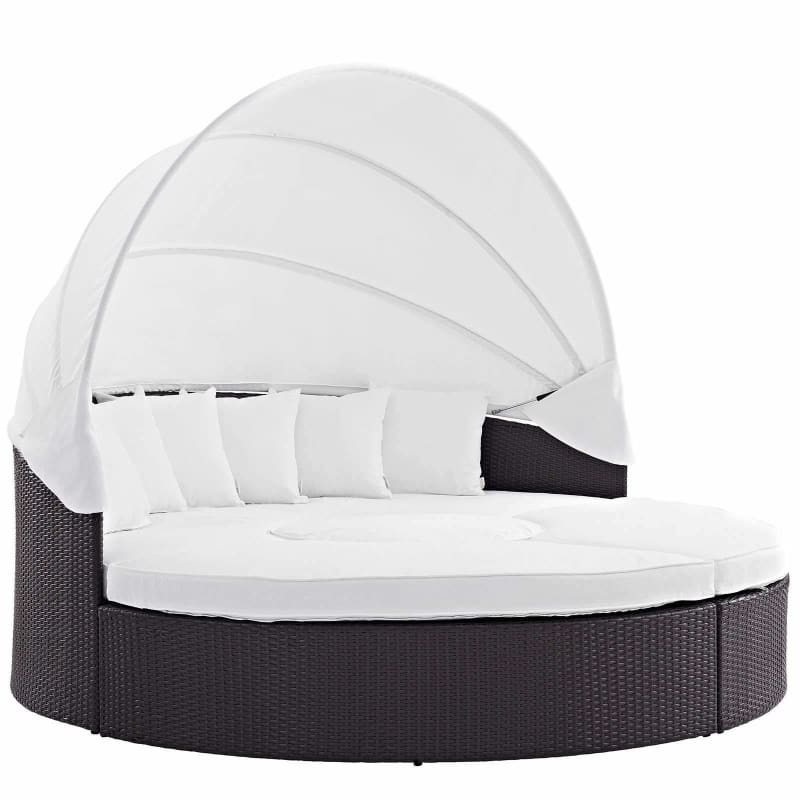 Modway Furniture, Convene Canopy Outdoor Patio Daybed EEI-2173 White,