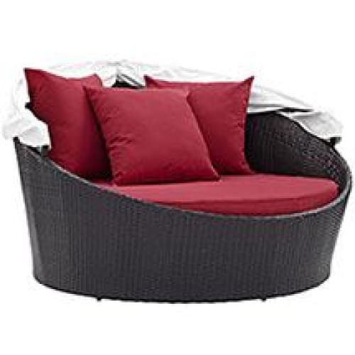 Modway Convene EEI-2175 Canopy Patio Daybed Red