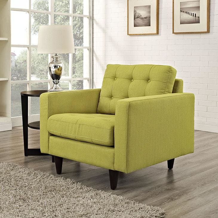 Modway Empress Upholstered Fabric Armchair Wheat EEI-1013-WHE