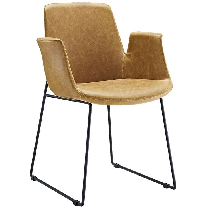 Modway Furniture Eei-1806 Aloft Dining Armchair - Tan - Furniture > Chairs > Kitchen & Dining Room Chairs