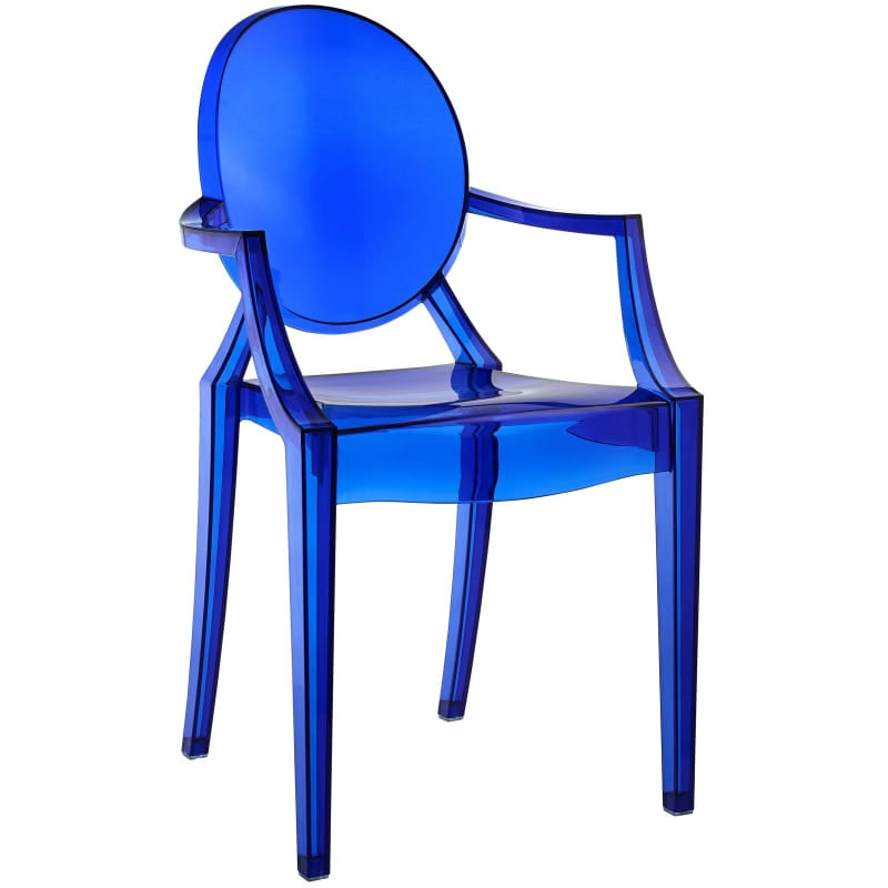 Modway Furniture Clear Dining Armchair EEI-121 Blue