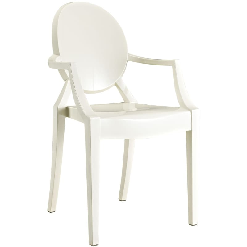Modway Furniture Clear Dining Armchair EEI-121 White