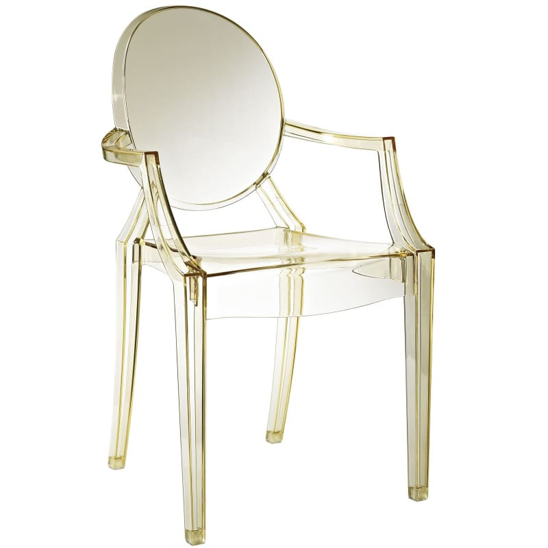 Modway Furniture Clear Dining Armchair EEI-121 Yellow