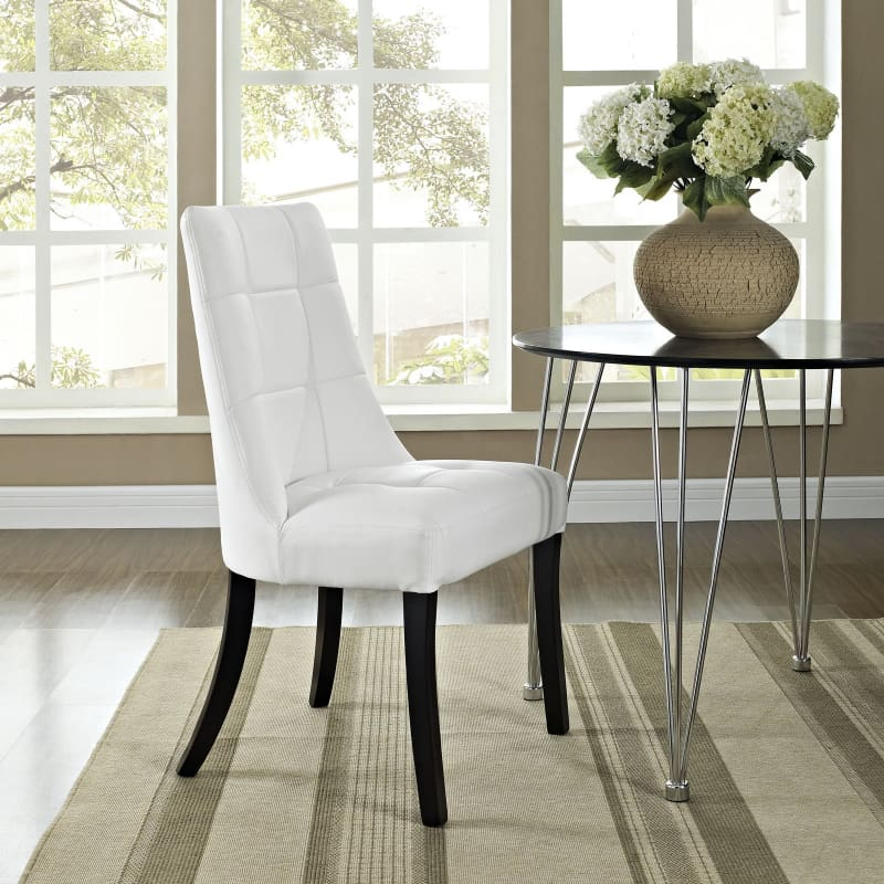 Modway Furniture Dining Vinyl Side Chair White EEI-1039-WHI