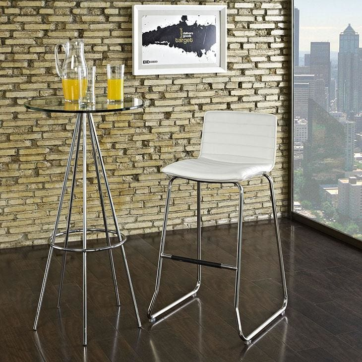 Modway Furniture EEI-1030-WHI Dive Bar Stool White