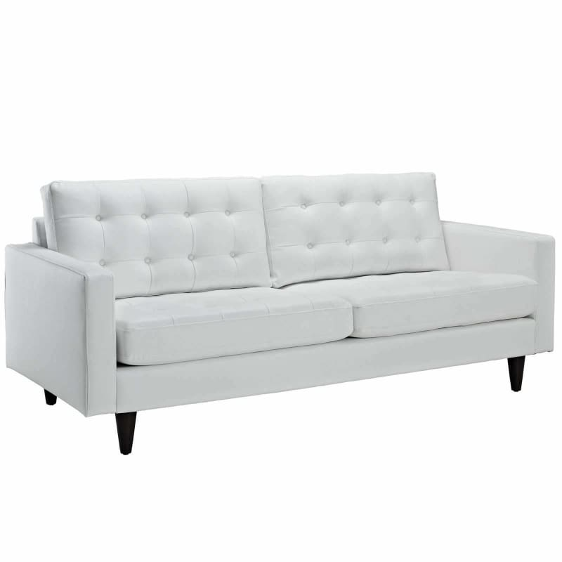 Modway Furniture, Modway Furniture Empress Bonded Leather Sofa EEI-1010,