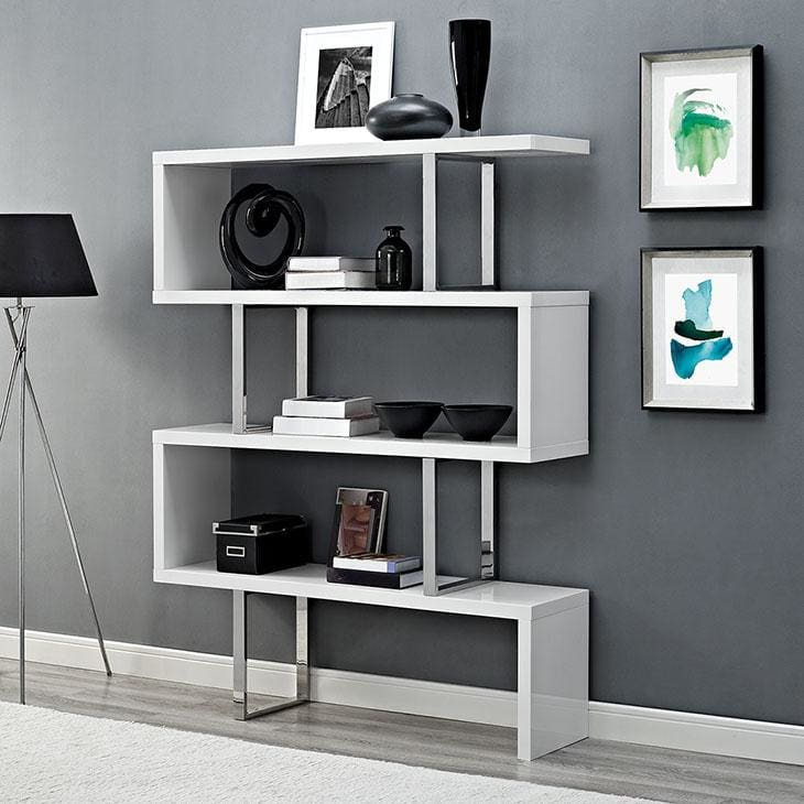 Modway Furniture Eei-2046 Meander Stand Bookshelf - Furniture > Shelving > Bookcases & Standing Shelves