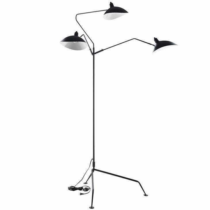 Modway Furniture, Modway EEI-1593 View Stainless Steel Floor Lamp Black, [product_id]