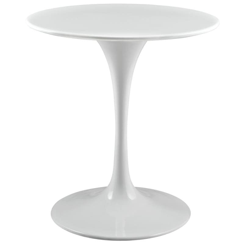 "Lippa 28"" Round Wood Top Dining Table in White EEI-1115-WHI"