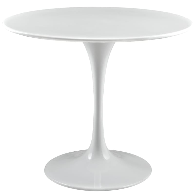 "Modway Lippa 36"" Round Wood Top Dining Table White"