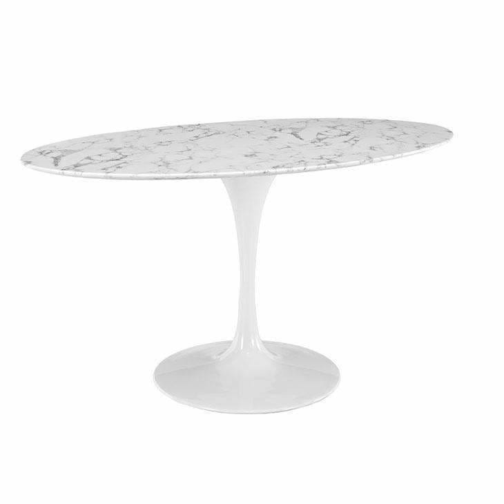 "Modway Furniture, Modway Furniture EEI-1135-WHI Lippa 60"" Oval Dining Table,"