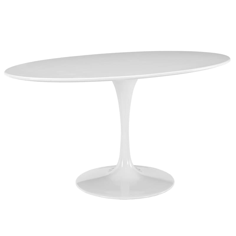 "Lippa 60"" Oval Wood Top Dining Table EEI-1121-WHI"