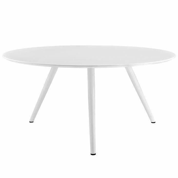 "Modway Furniture, Modway EEI-2525-WHI Lippa 60"" Round Wood Top Dining Table,"