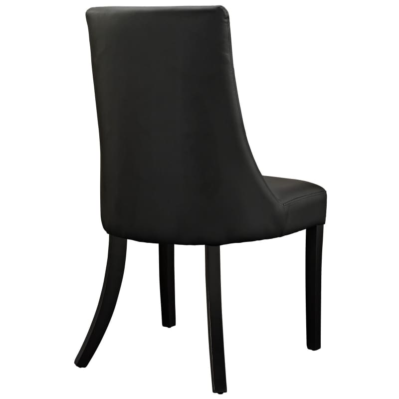 Modway Noblesse Dining Vinyl Side Chair Black EEI-1039-BLK