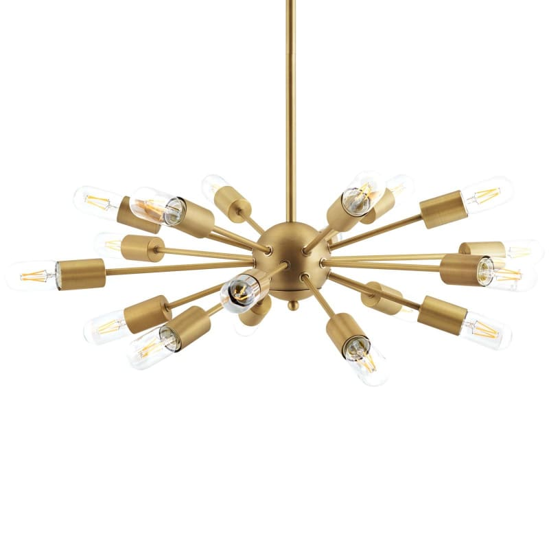 Modway Resolve Brass Pendant Chandelier EEI-3079