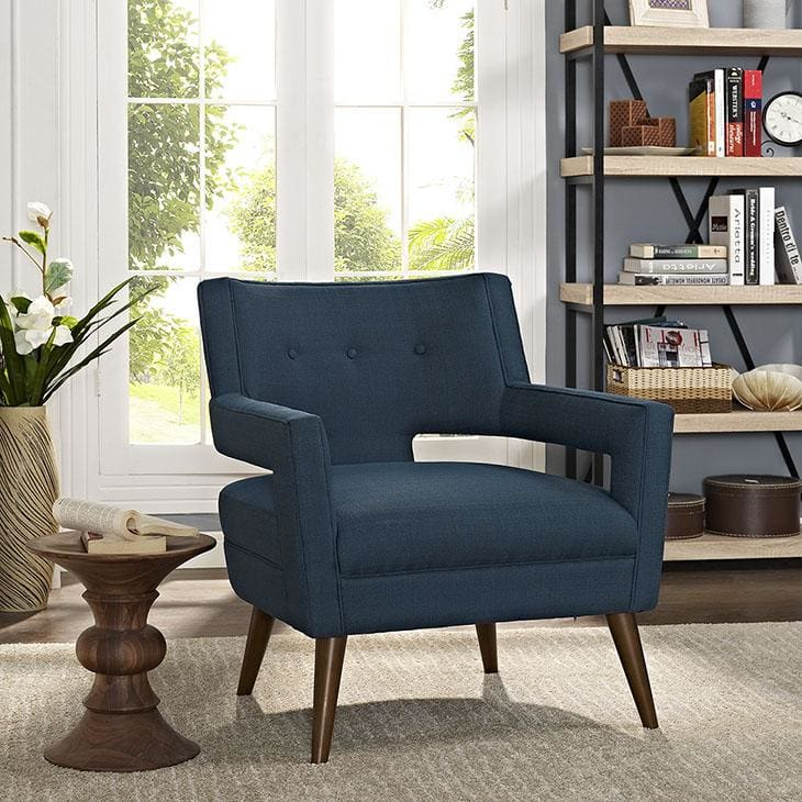 Sheer Upholstered Fabric Armchair Eei-2142 - Furniture > Chairs > Arm Chairs Recliners & Sleeper Chairs