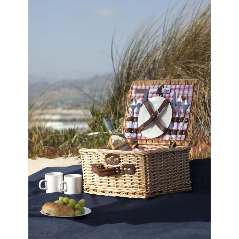 Picnic Time 140-10 Catalina Handwoven Picnic Basket - Home & Garden > Kitchen & Dining > Food & Beverage Carriers > Picnic Baskets