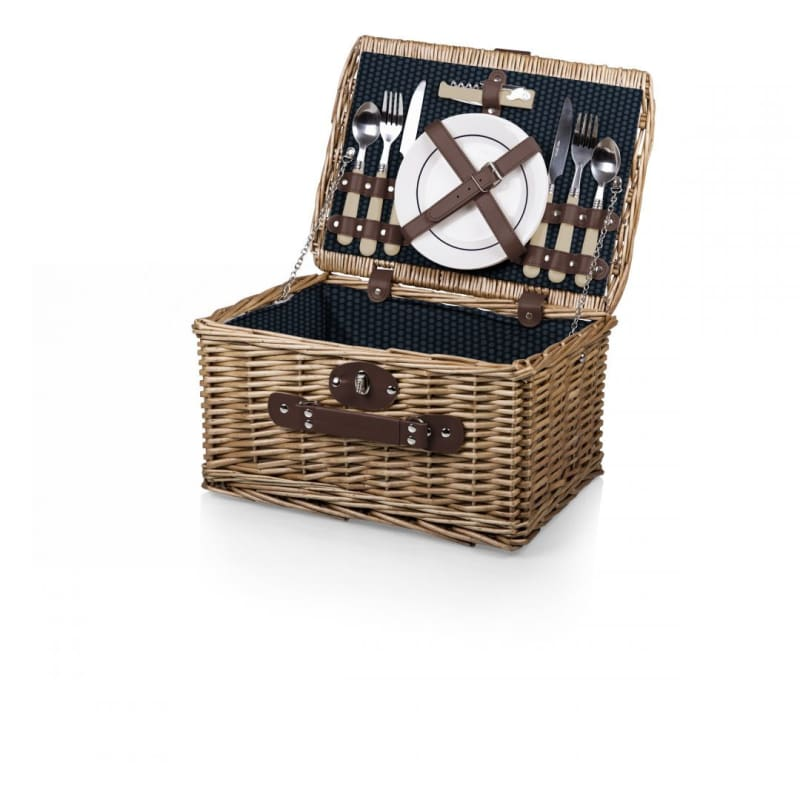 Picnic Time 140-10 Catalina Handwoven Picnic Basket - Dahlia - Home & Garden > Kitchen & Dining > Food & Beverage Carriers > Picnic Baskets