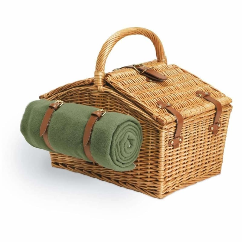Picnic Time, Picnic Time 213-87-130 Somerset Picnic Basket Green / Plaid,