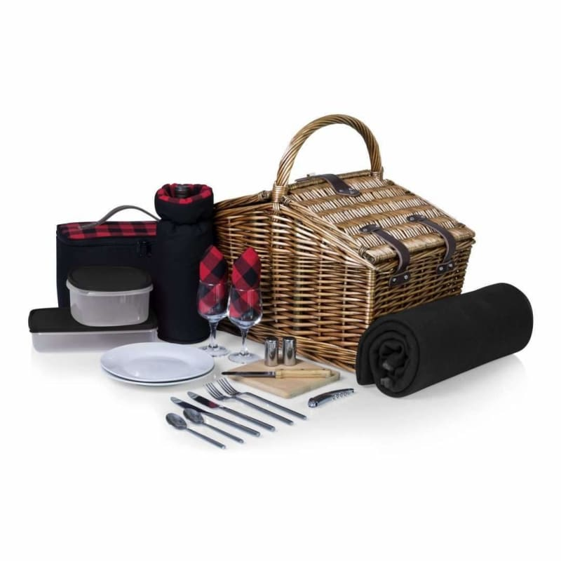 Picnic Time, Picnic Time 213-87-406 Somerset' Picnic Basket Red / Plaid,