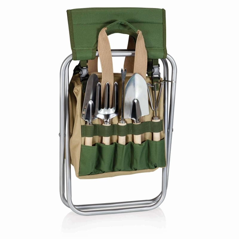 Picnic Time, Picnic Time 542-93-121 Gardener Folding Seat with Tools,