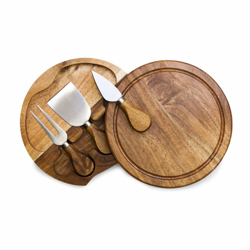 Picnic Time, Picnic Time Acacia Brie Cheese Board & Tools Set,