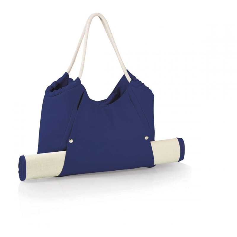 Picnic Time Beach Tote and Mat 638-00-138 Navy