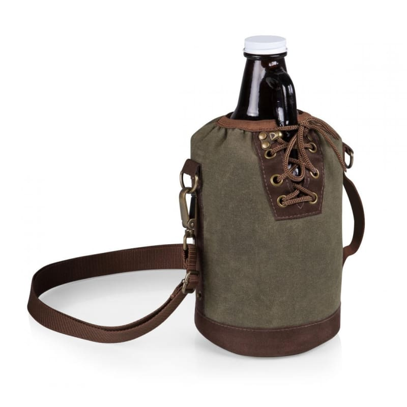 Picnic Time 64-oz. Amber Glass Growler w/ Insulated Growler Tote