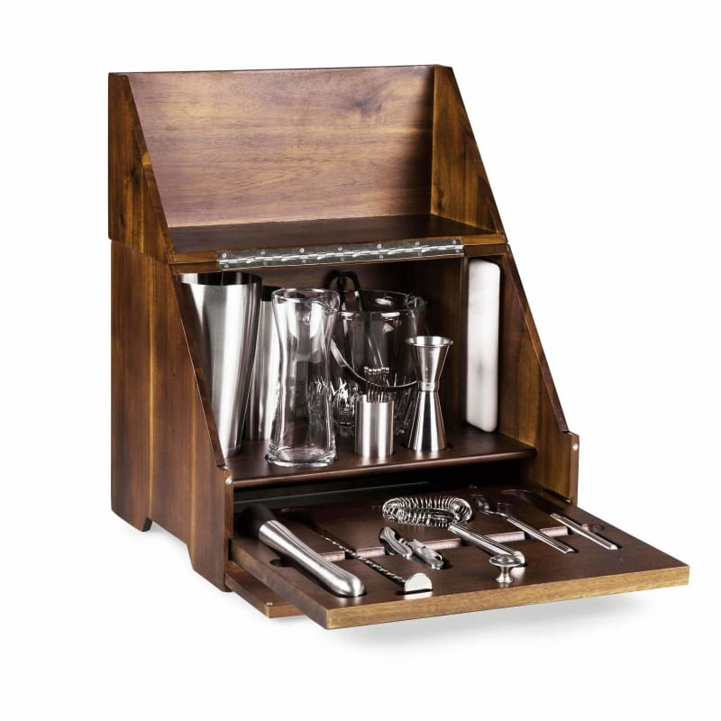 Picnic Time, Picnic Time Madison Acacia Tabletop Bar 668-44-508,