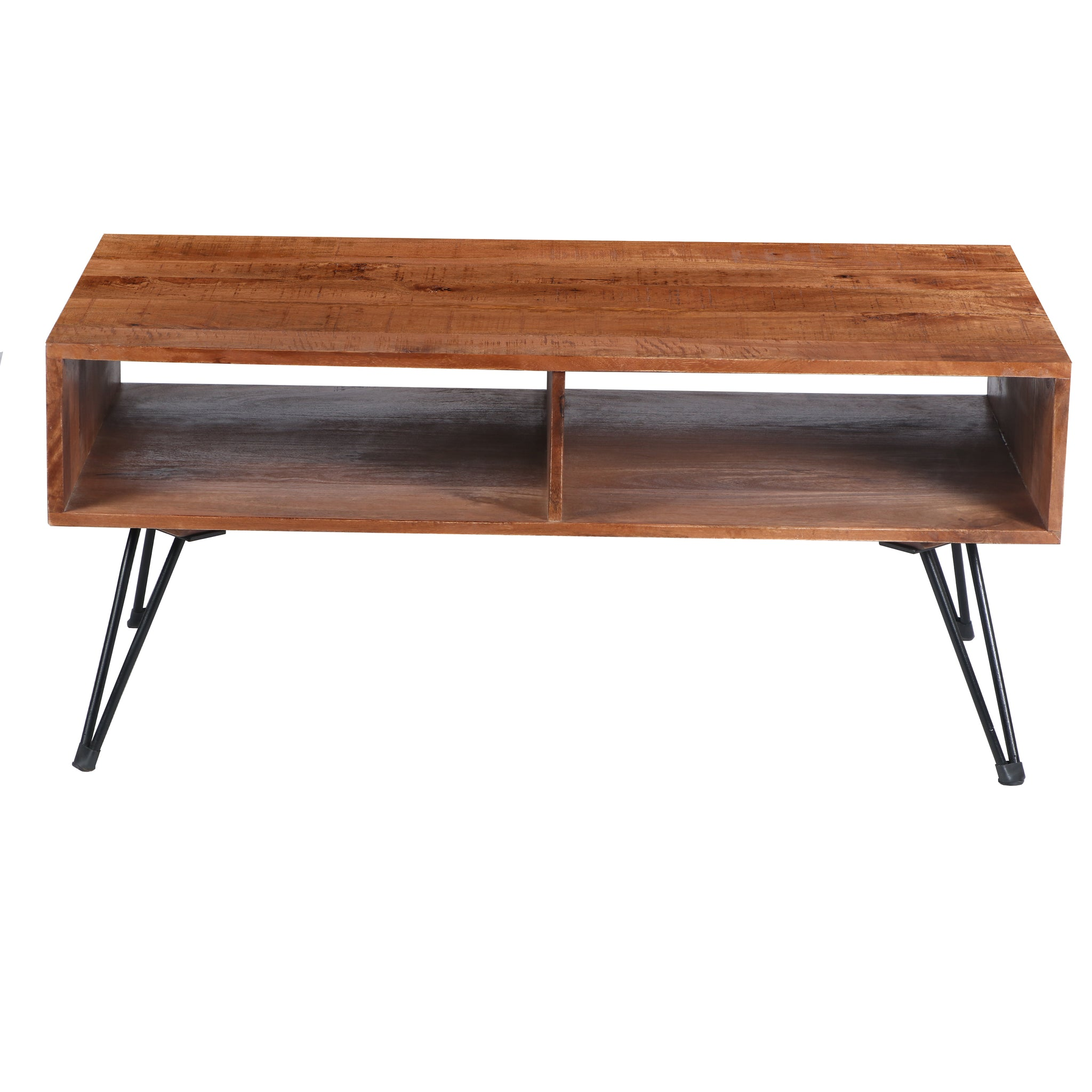 The Urban Port UPT-195121 Mango Wood Coffee Table W/ Metal Legs