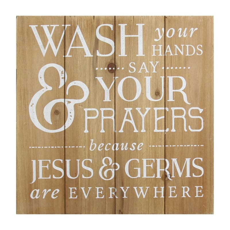 Stratton Wash Your Hands Say Your Prayers Bath Wall Art S11582 - Home & Garden > Decor > Artwork > Sculptures & Statues