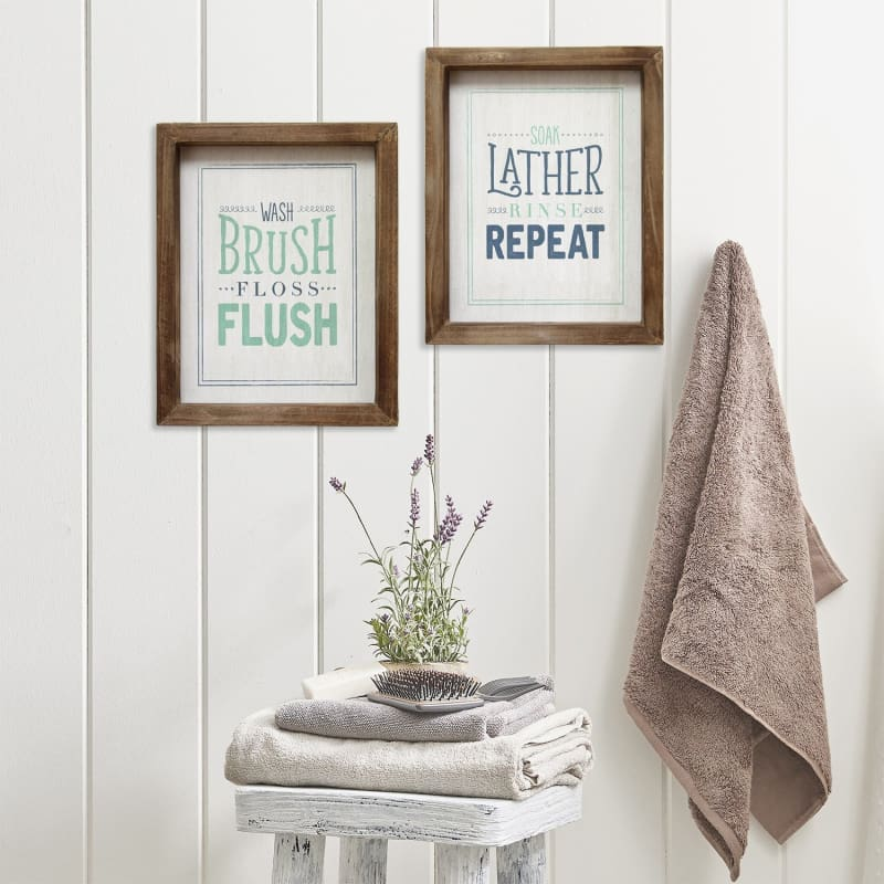 Stratton Soap Lather Rinse Repeat Wall Art S09610