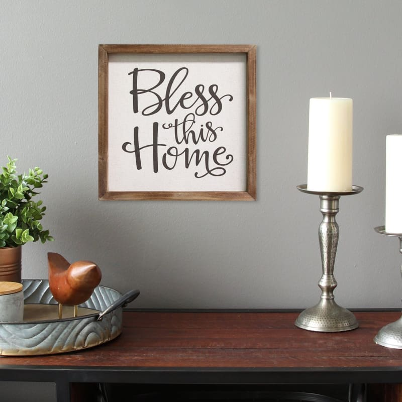 Stratton Bless This Home Wall Art S09613