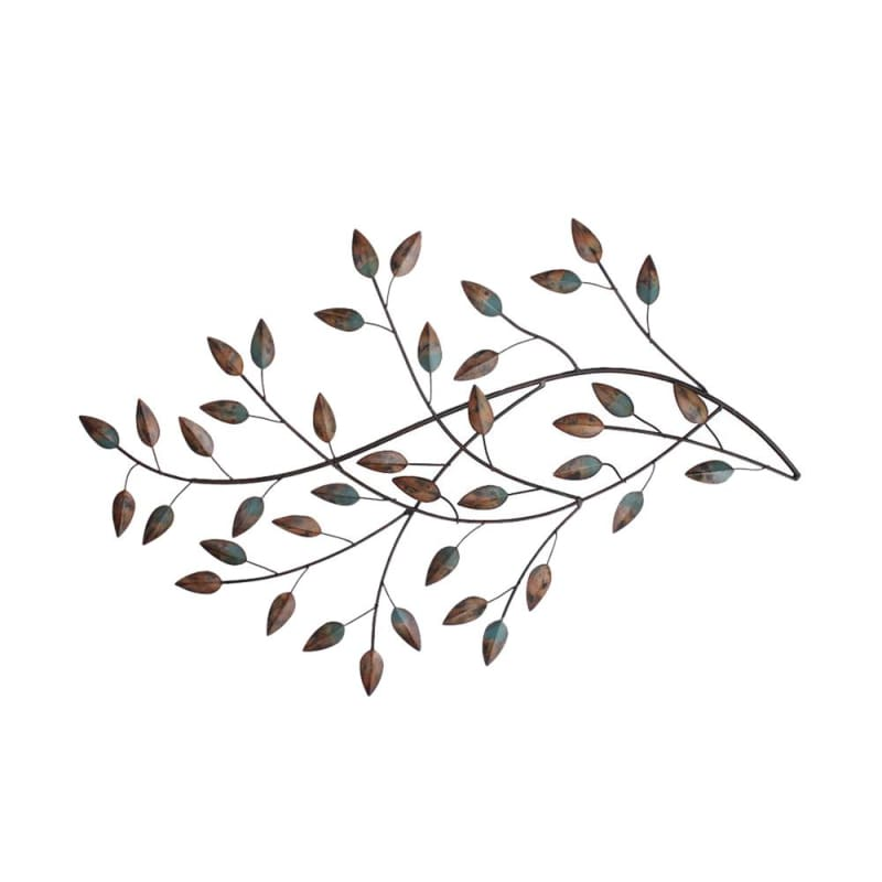 Stratton Home Decor SHD0119 Metal Wall Hanging Blowing Leaves
