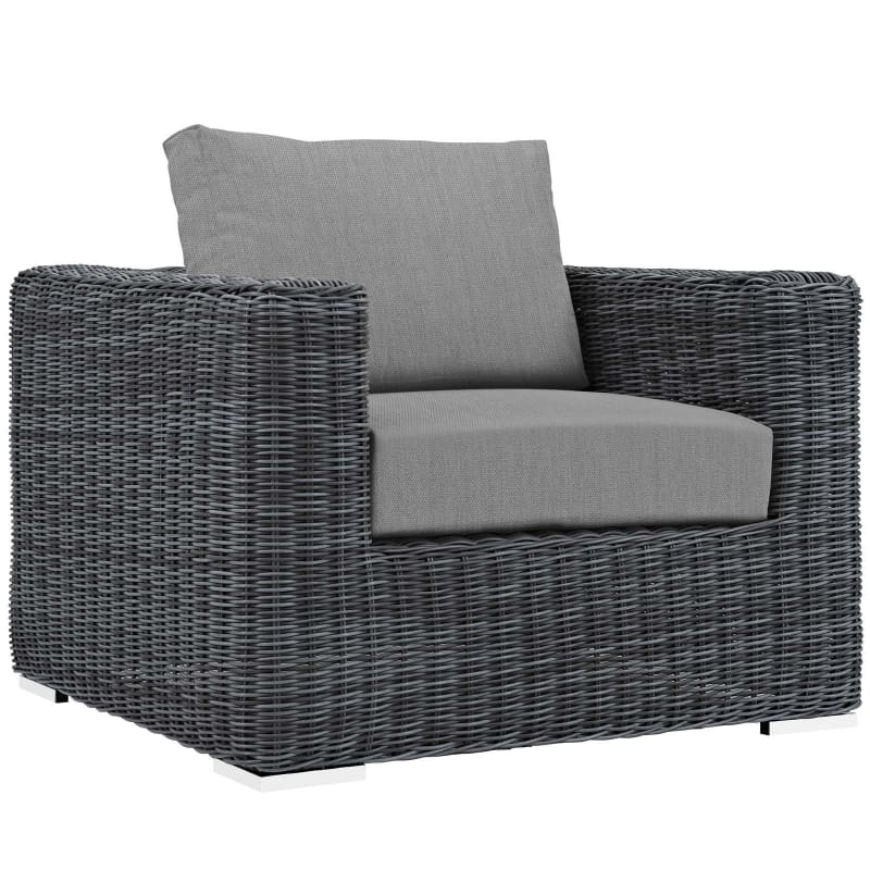 Summon 3 Piece Outdoor Patio Sunbrella® Sectional Set Canvas Gray - furniture > Outdoor Furniture > Outdoor Furniture Sets