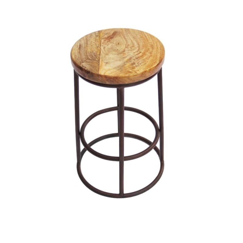 "The Urban Port 24"" Acacia Wood Counter Height Barstool UPT-636038472"