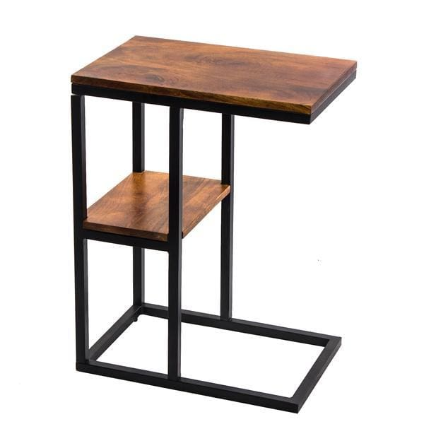The Urban Port Iron Framed Mango Wood Accent Table UPT-184808