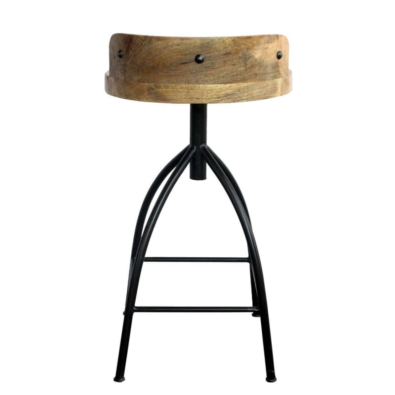 The Urban Port UPT-165867 Industrial Style Swivel Counter Height Stool - Furniture > Chairs > Table & Bar Stools