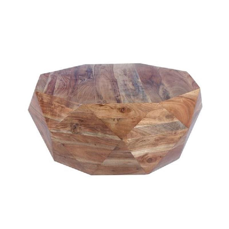The Urban Port Diamond Shape Acacia Wood Coffee Table UPT-183796