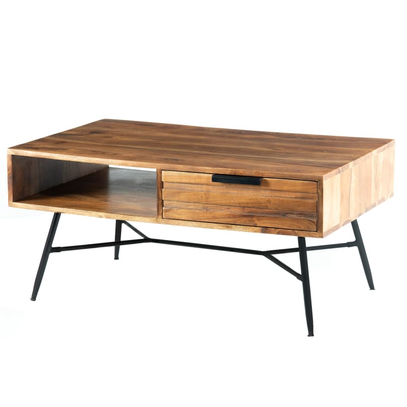 The Urban Port UPT-195126 Wood and Metal Coffee Table