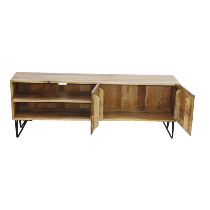 The Urban Port Upt-38930 Industrial Style Tv Stand Cabinet Brown - Furniture > Entertainment Centers & Tv Stands