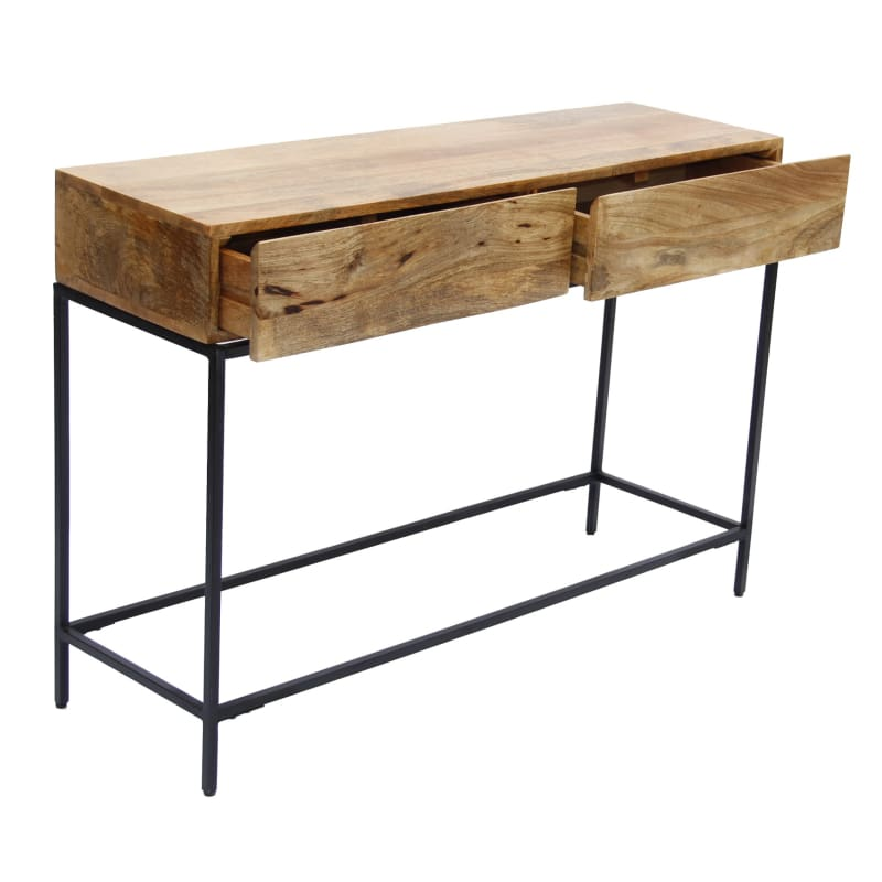 The Urban Port Mango Console Table W/ Two Drawers Brown UPT-39270