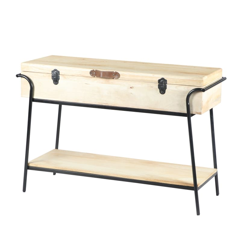 Urban Port Wood and Metal Box Console Table UPT-195119